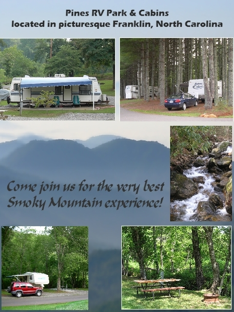 franklin north carolina summer rv park sites